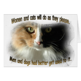 Women and Cats... Card
