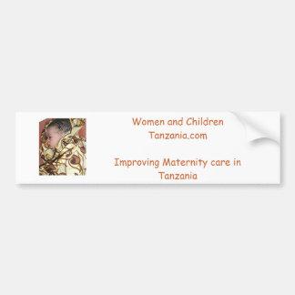 Women and Children Tanzania Bumper Sticker. Bumper Sticker