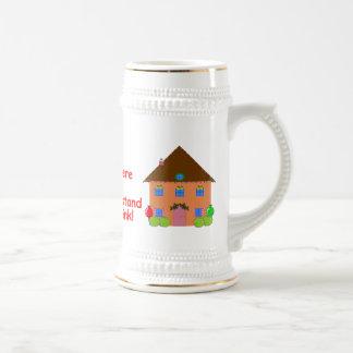 women and drinking holiday mug