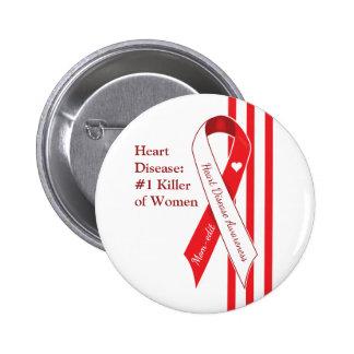 Women and Heart Disease Awareness Pinback Button