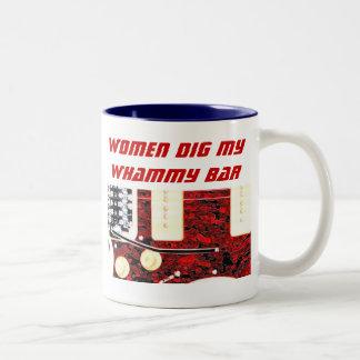Women and Whammy Bar Two-Tone Coffee Mug