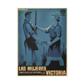 Women are able to contribute_Propaganda Poster Canvas Print