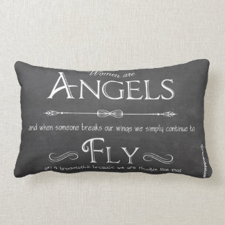 Women Are Angels-A Decorative Lumbar Pillow