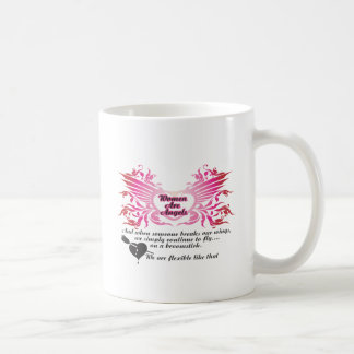 Women Are Angels.ai Classic White Coffee Mug