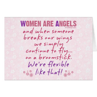Women are Angels Card