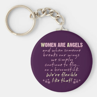 Women are Angels Keychains