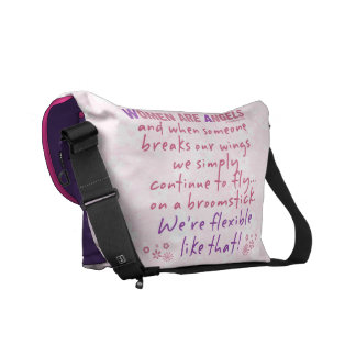 Women are Angels Messenger Bag