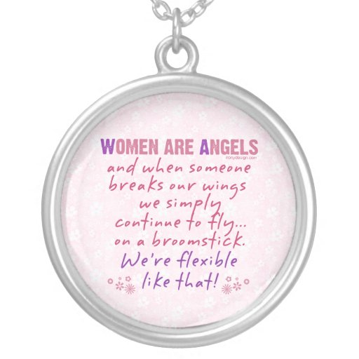 Women are Angels Personalized Necklace