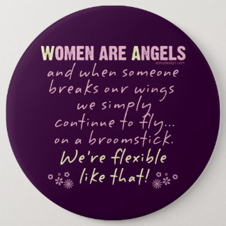 Women are Angels Pinback Button