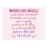 Women are Angels Postcard