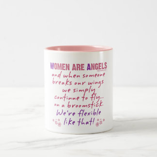 Women are Angels Two-Tone Coffee Mug