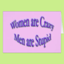 Women Are Crazy blue Card