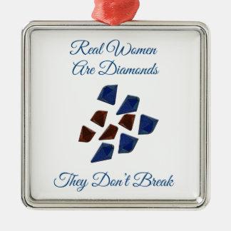 Women Are Diamonds Metal Ornament