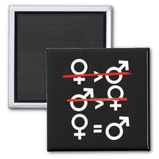 Women are Equal to Men --  white - Magnet