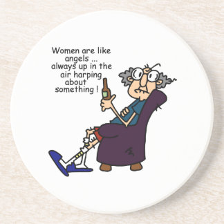 Women Are Like Angels Sandstone Coaster