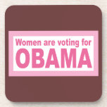 Women Are Voting For Obama Beverage Coasters