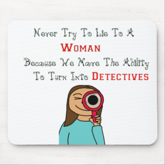 women as detectives mouse pad