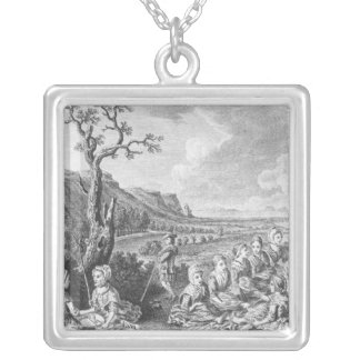 Women at Quern and Luaghad with view Talyskir Silver Plated Necklace