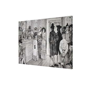 Women at the Polls in New Jersey Canvas Print