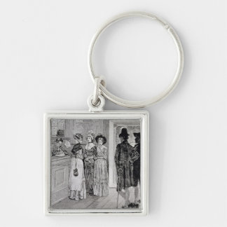 Women at the Polls in New Jersey Keychain