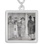 Women at the Polls in New Jersey Personalized Necklace