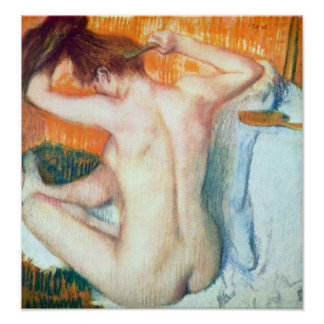 Women at the toilet by Edgar Degas Poster