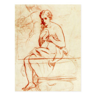 Women at the Toilet by Edouard Manet Postcard