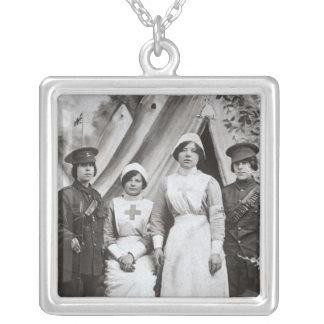 Women at War, 1914-18 Square Pendant Necklace