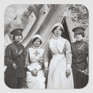 Women at War, 1914-18 Square Sticker
