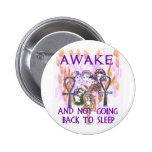 Women Awake 2 Inch Round Button