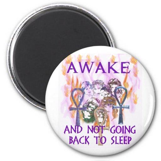 Women Awake 2 Inch Round Magnet