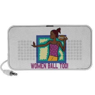 Women Ball Too Laptop Speakers