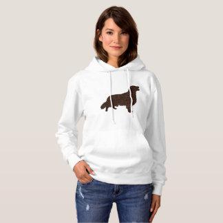 Women Basic Hooded Sweatshirt Chocolate retriever