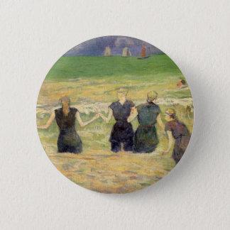 Women Bathing Dieppe by Paul Gauguin Button