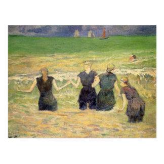 Women Bathing Dieppe by Paul Gauguin Postcard