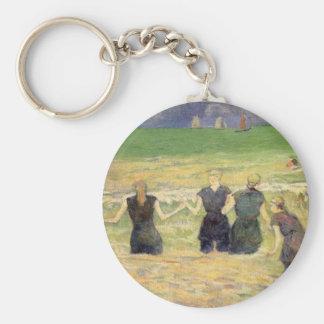 Women Bathing Dieppe, Gauguin, Post Impressionism Keychain