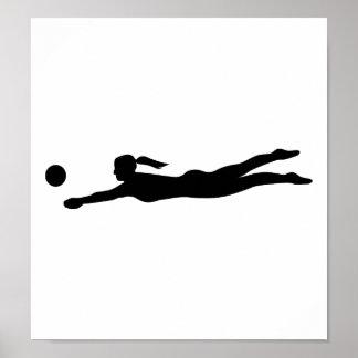 Women beachvolleyball poster