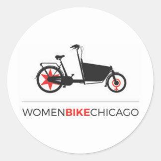Women BIke Chicago - Cargo Bike Design Stickers
