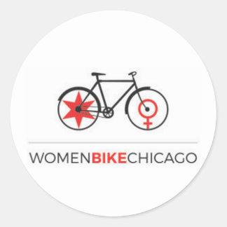 Women Bike Chicago - Commuter Bike Design Stickers