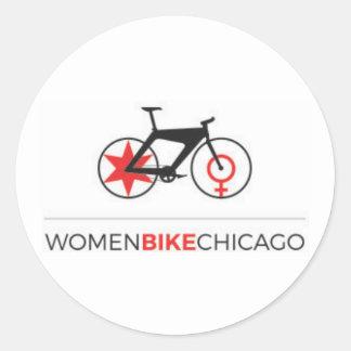 Women Bike Chicago - Sleek Bike Stickers