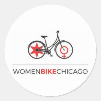 Women Bike Chicago - Step-Through Design Stickers