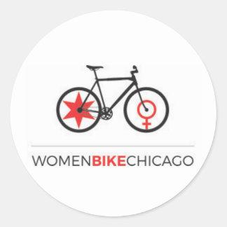 Women Bike Chicago - Urban Upright Design Stickers