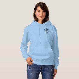 Women Blue Hoodie Sweatshirt with Logo No Minimum