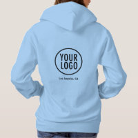 Women Blue Hoodie Sweatshirt with Logo No Minimum