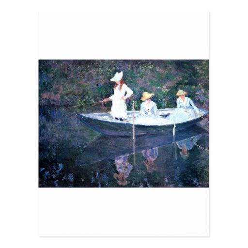 Women Boating - Claude Monet Postcard