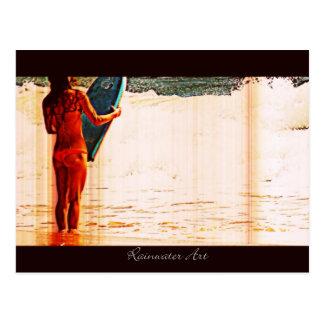 Women Body Boarder Postcard