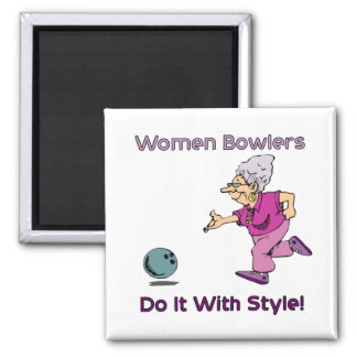 Women Bowlers Magnet