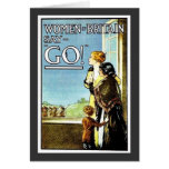 Women Britain Say, Go Greeting Cards