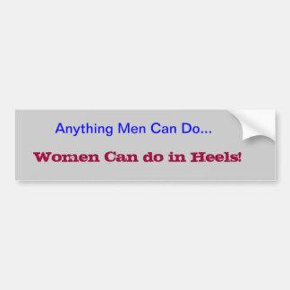 Women can Do Bumper Sticker