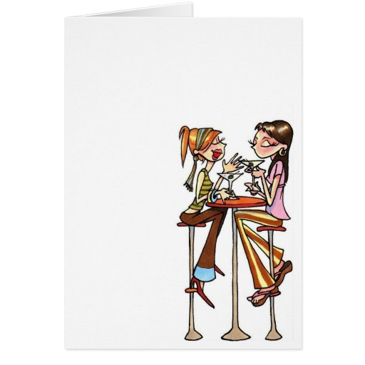 women chat notecard stationery note card